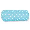 Aquamarine Small Polka Dot Round Bolster Pillow