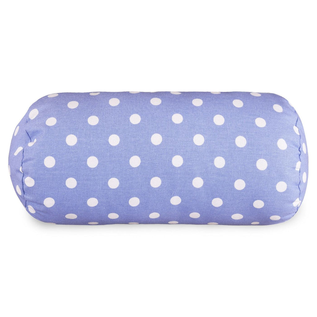 Lavender Polka Dots Round Bolster Pillow