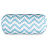 Tiffany Blue Chevron Round Bolster Pillow