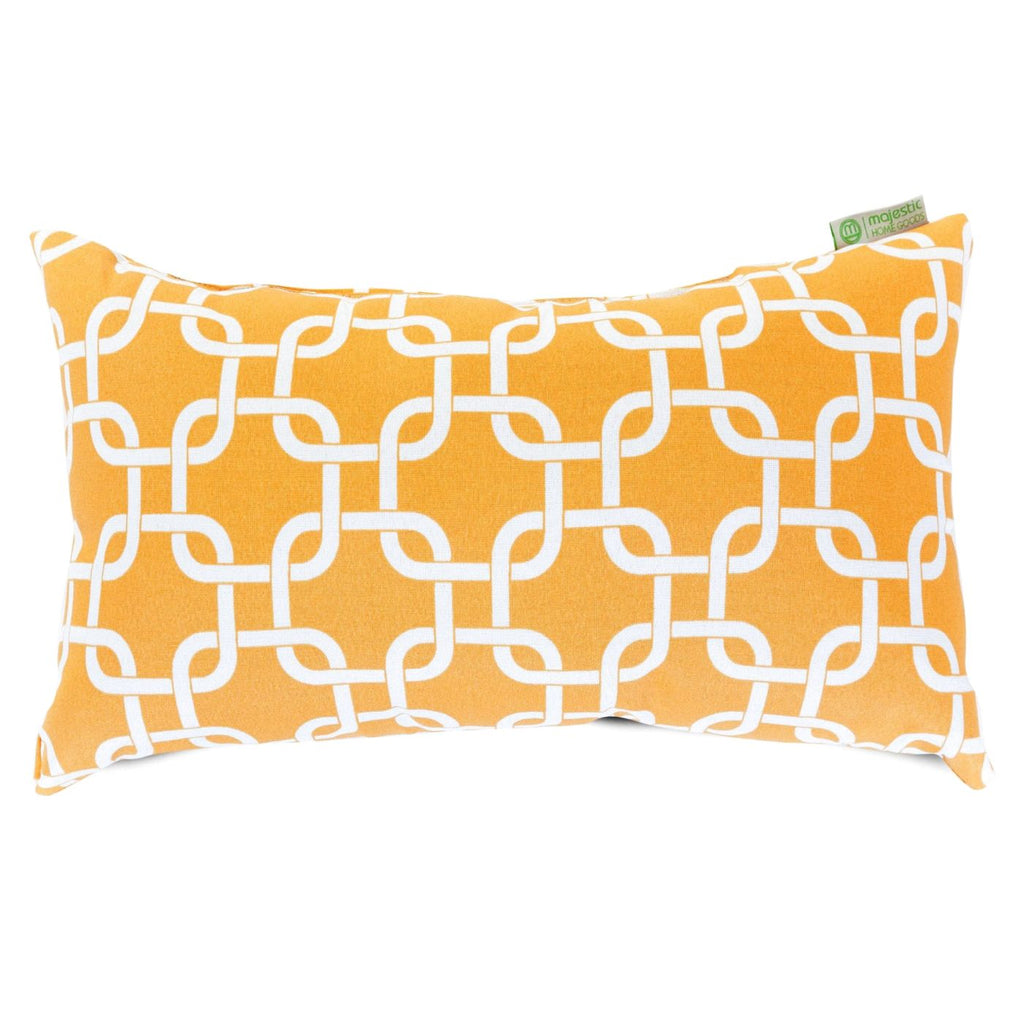Yellow Links Small Pillow