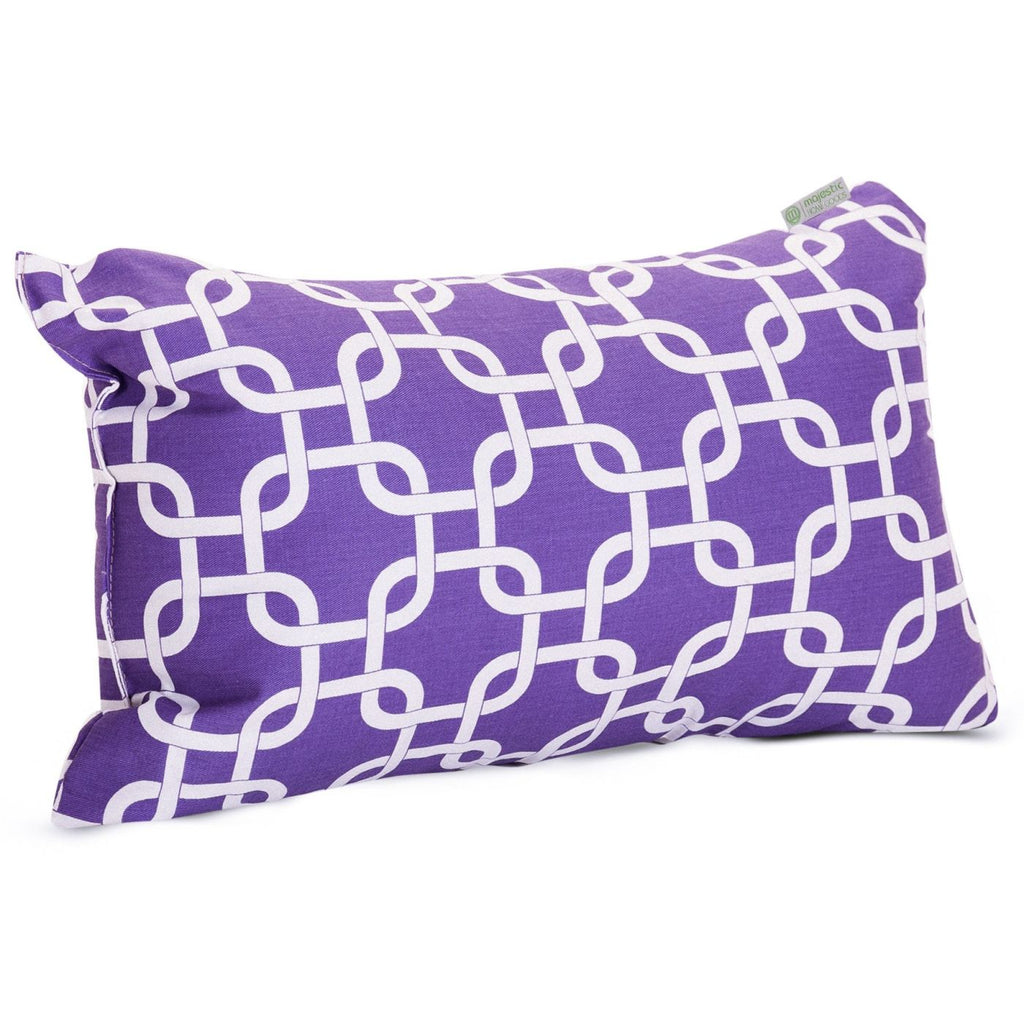 Purple Links Small Pillow