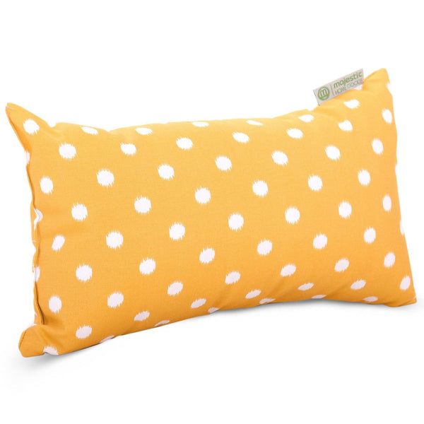 Citrus Ikat Dot Small Pillow