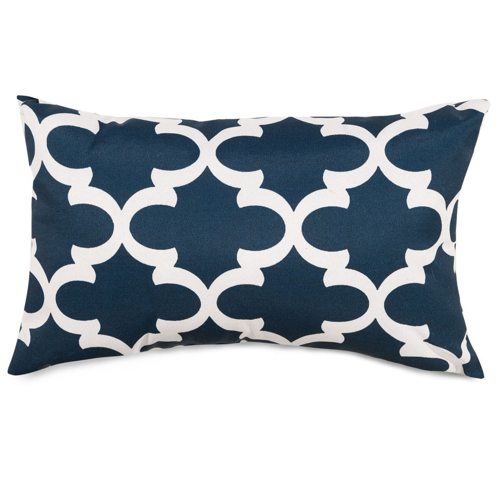 Navy Trellis Small Pillow