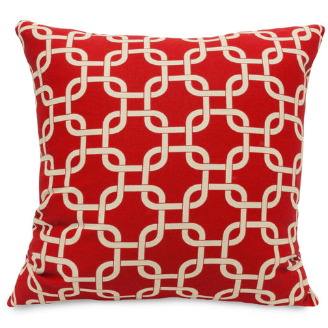 Red Links Large Pillow