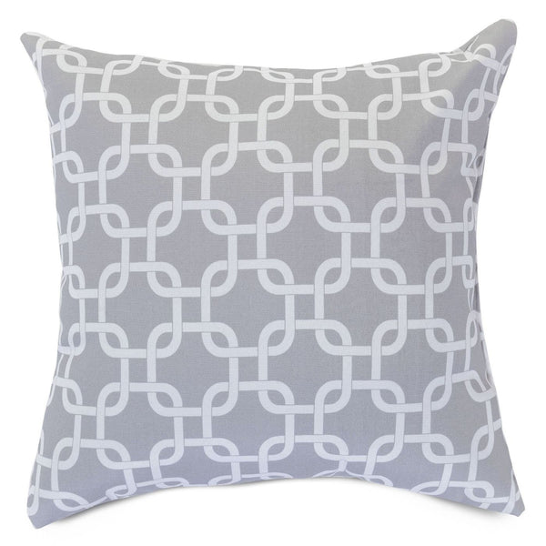 Gray Links Large Pillow
