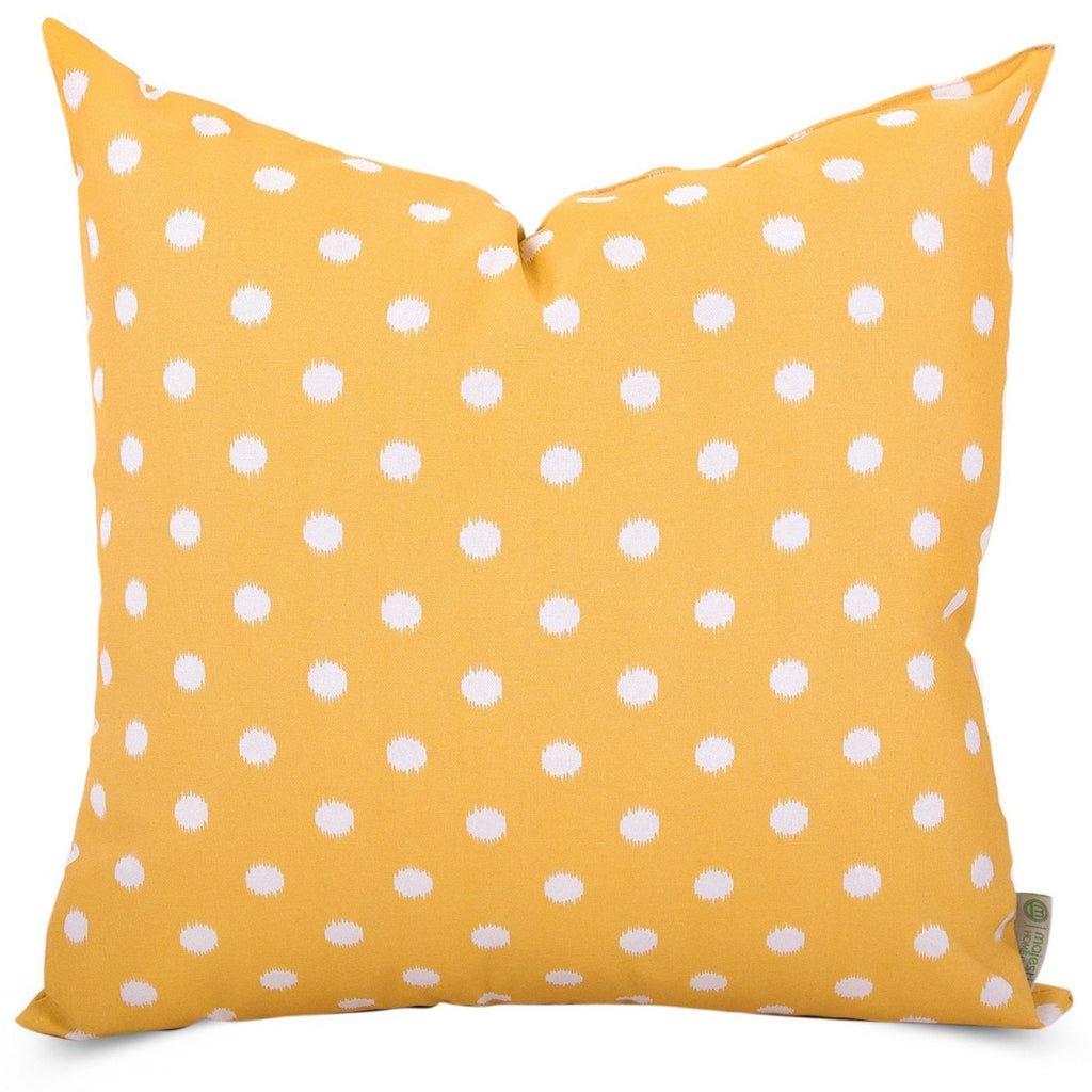 Citrus Ikat Dot Large Pillow