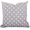 Gray Ikat Dot Large Pillow