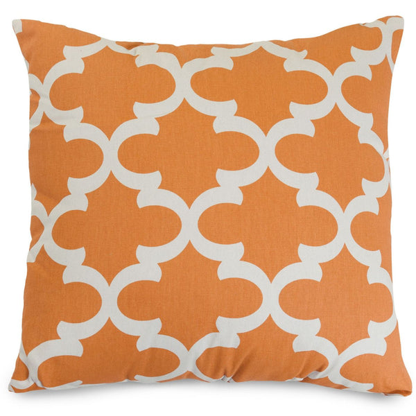 Peach Trellis Large Pillow