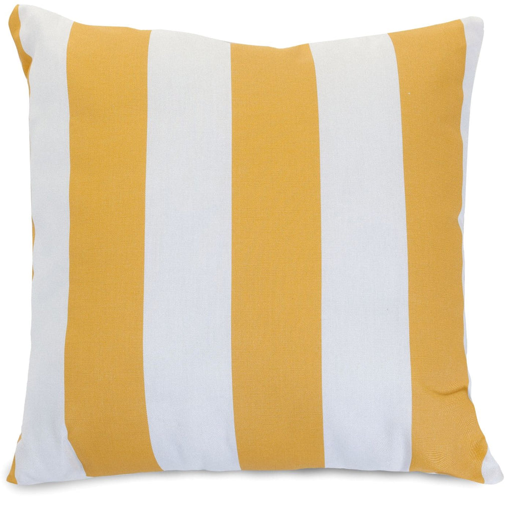 Yellow Vertical Stripe Large Pillow