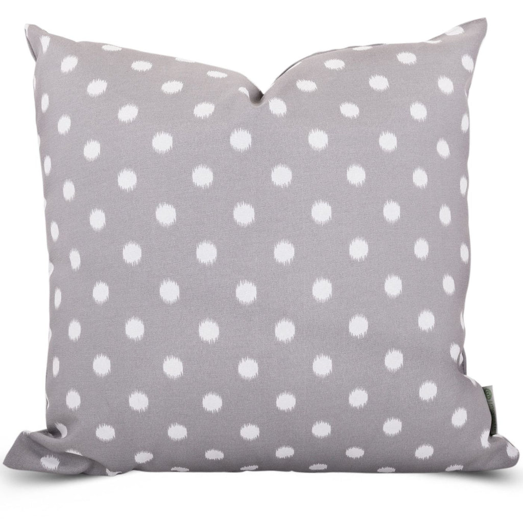Gray Ikat Dot Extra Large Pillow