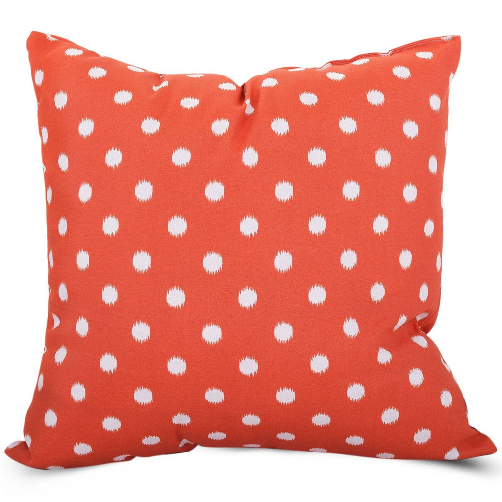 Orange Ikat Dot Extra Large Pillow