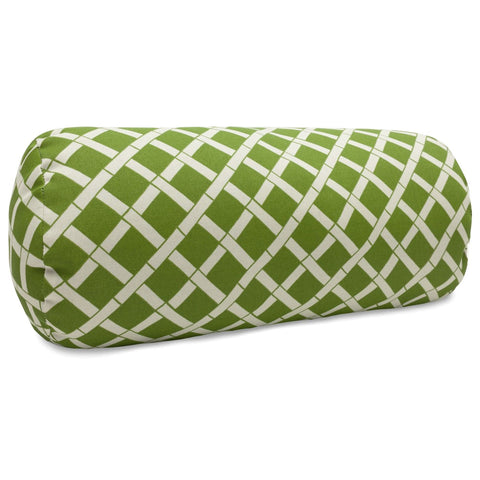 Sage Bamboo Round Bolster Pillow