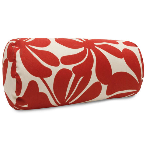 Red Plantation Round Bolster Pillow