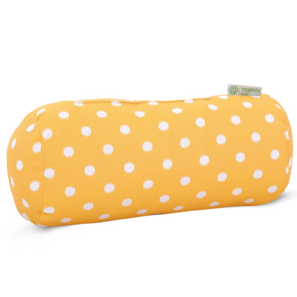 Citrus Ikat Dot Round Bolster Pillow