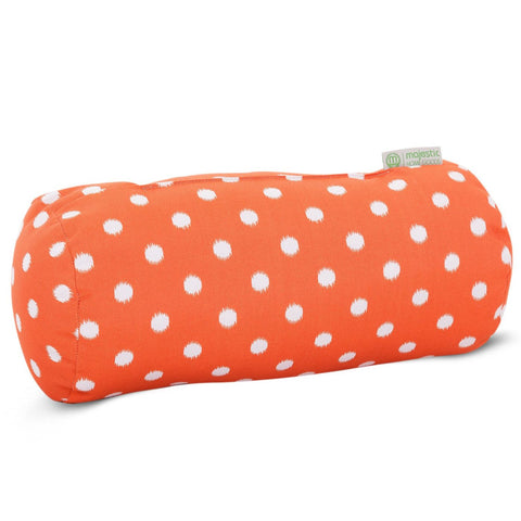 Throw Pillows - Majestic Home 85907222072 Orange Ikat Dot Round Bolster Pillow | 859072220720 | Only $39.40. Buy today at http://www.contemporaryfurniturewarehouse.com