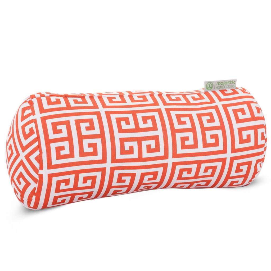 Orange Towers Round Bolster Pillow