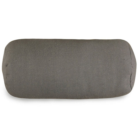Gray Wales Round Bolster Pillow