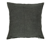 Lemmy Linen Feather Cushion Charcoal 20X20 Pillow
