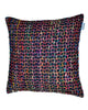 Chain Feather Cushion Black 25X25 Pillow