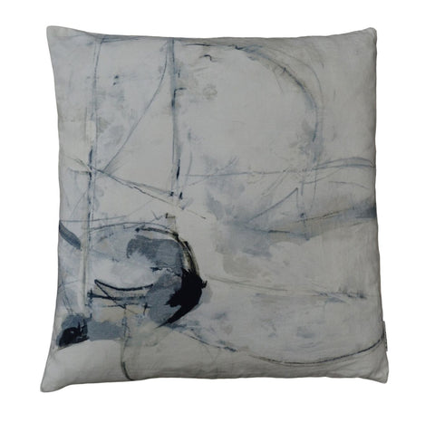 Trajectory Velvet Feather Cushion 25X25 Pillow