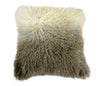 Lamb Fur Pillow Light Grey Spectrum Wool