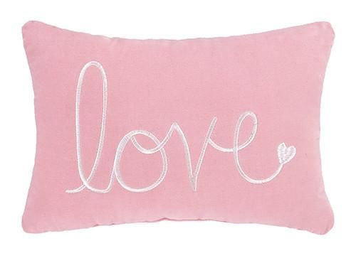 Pink Love Velvet Pillow