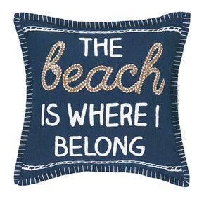 The Beach Is Where I Belong Pillow