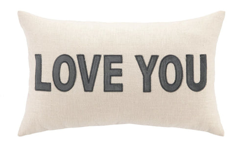 Love You Pillow 12X20