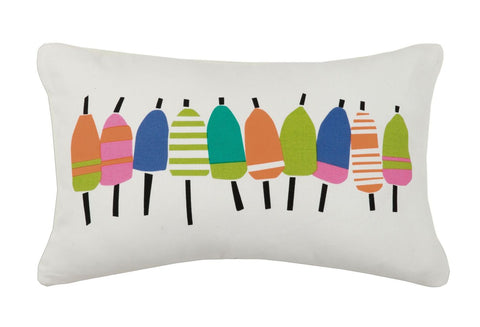 Multi Buoys Printed Od Pillow