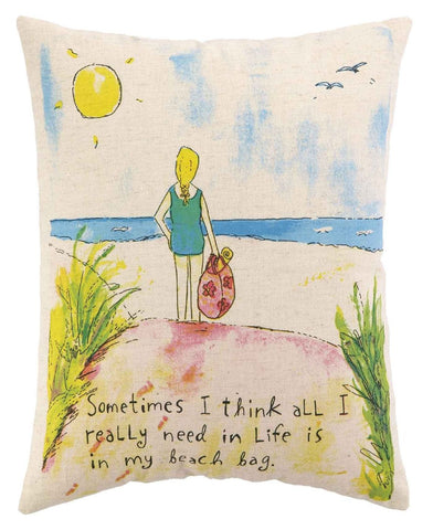 Beach Bag Pillow 14X18