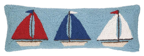 Sailboat Trio Pillow 8X24
