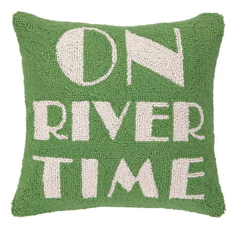 On River Time Pillow 16X16