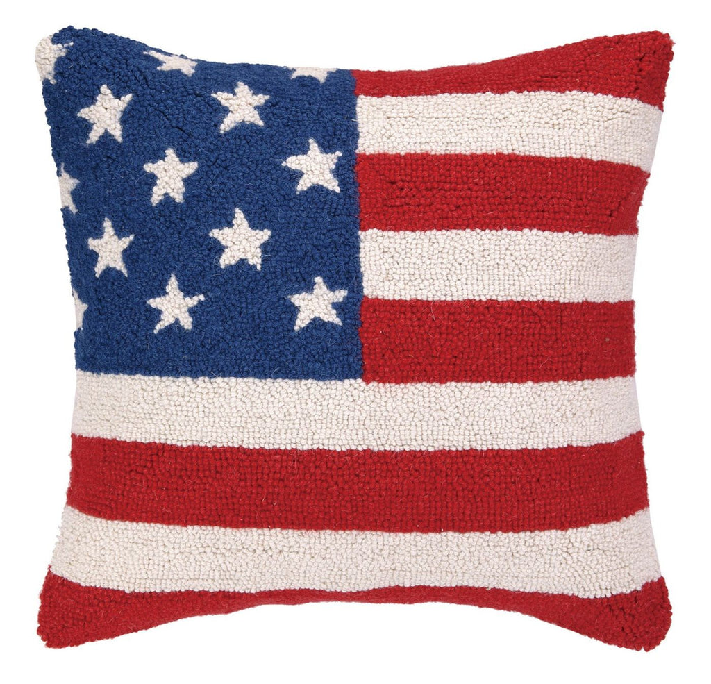 American Flag Red Wht & Blu Pillow