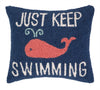 Just Keep Swimming Pillow 14X16