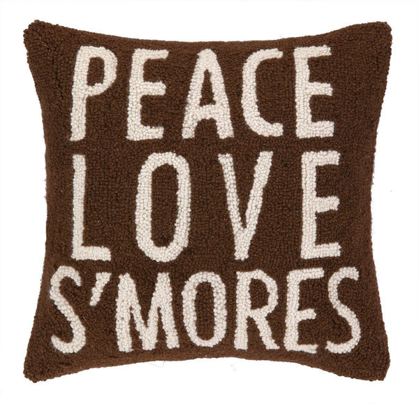 Peace Love S'mores Pillow 16X16