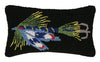 Fishing Lure Blue Pillow 9X16