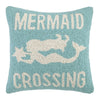 Mermaid Crossing Pillow 16X16