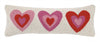 Pink Hearts Pillow 8X24