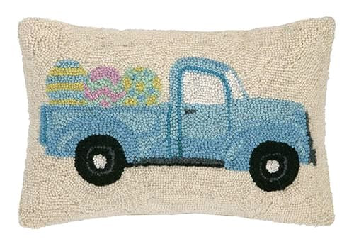 Truck With Easter Eggs Pillow