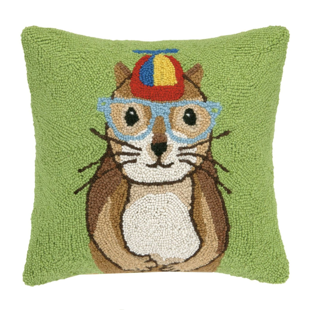 Chipmunk W/ Propeller Hat Pillow