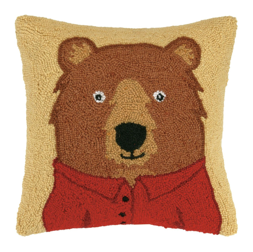 Bear With Polo Pillow 16X16