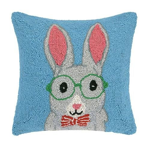 Bunny Glasses And Bowtie Pillow