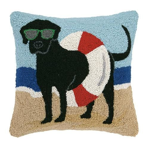 Lab In Tube Beach Pillow 16X16