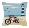 Beach Light Tower And Bike Pillow