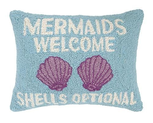 Mermaids Shells Pillow 14X18