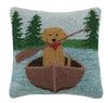 Golden Lab Canoeing Pillow 16X16