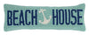 Beach House Anchor Pillow 8X24