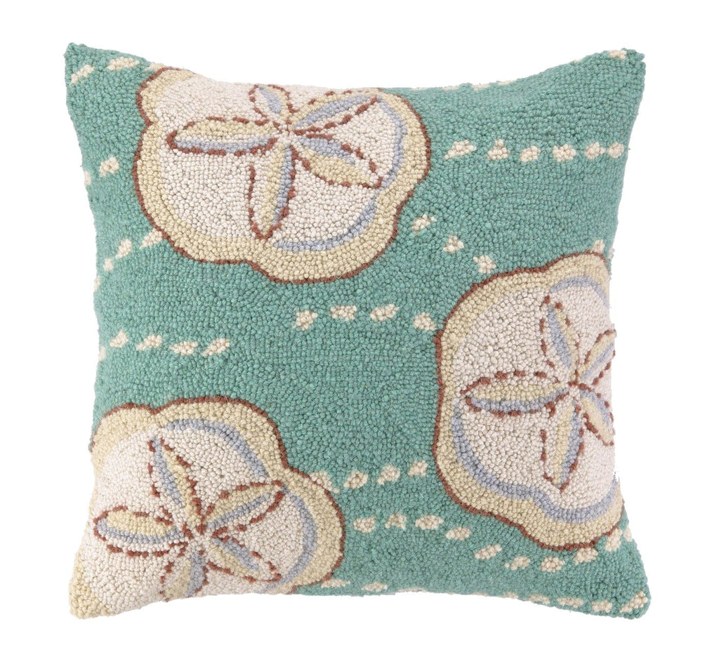 Sand Dollar Hook Pillow 18X18