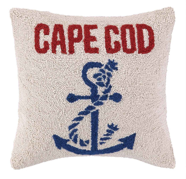 Anchored At Cape Cod Pillow