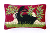 Bunny On Red Hook Pillow 12X20